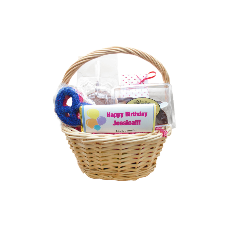 birthday basket medium wicker