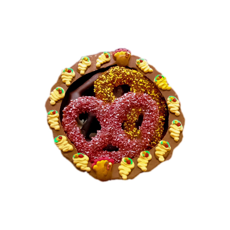 cornucopia with pretzels