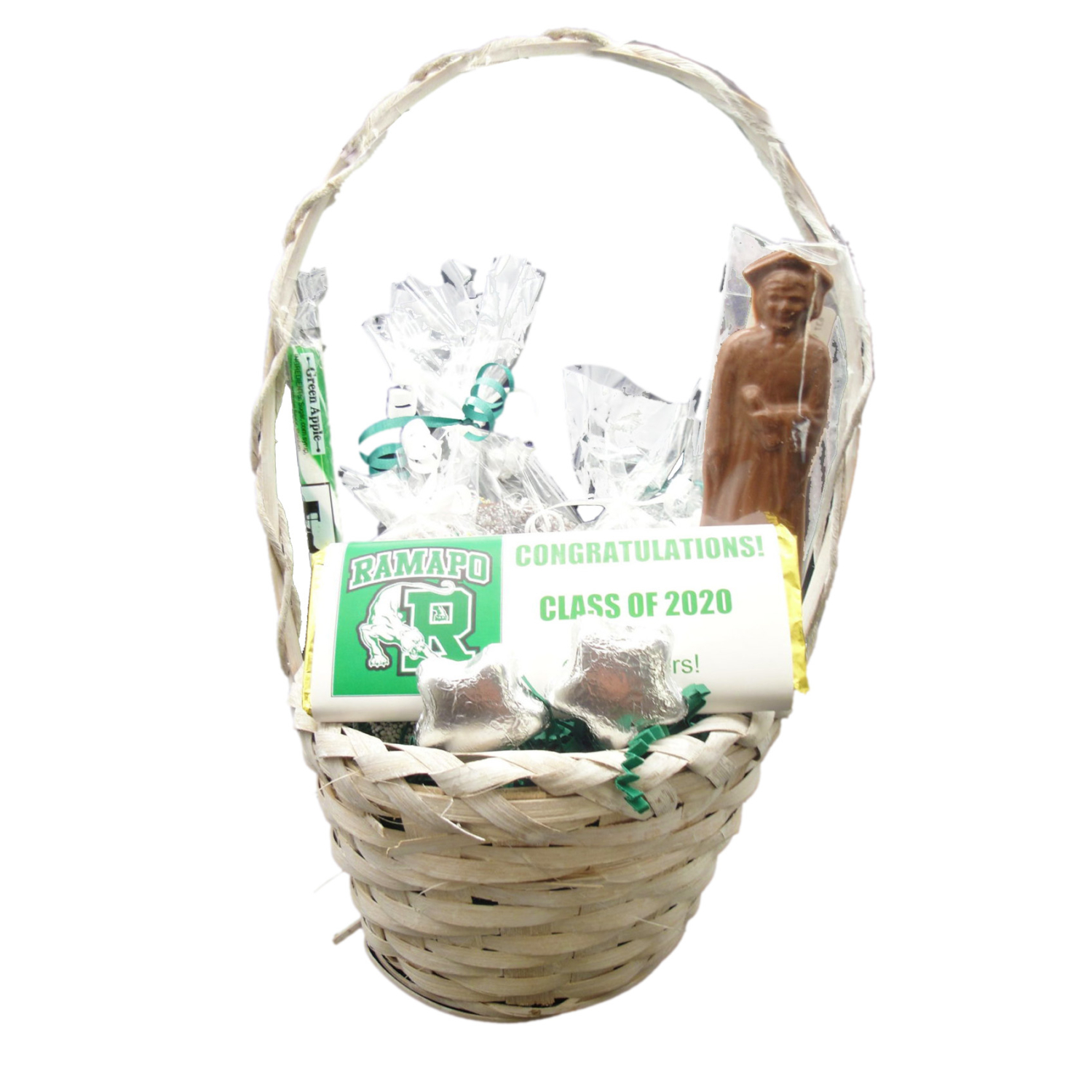 graduation basket – small wicker