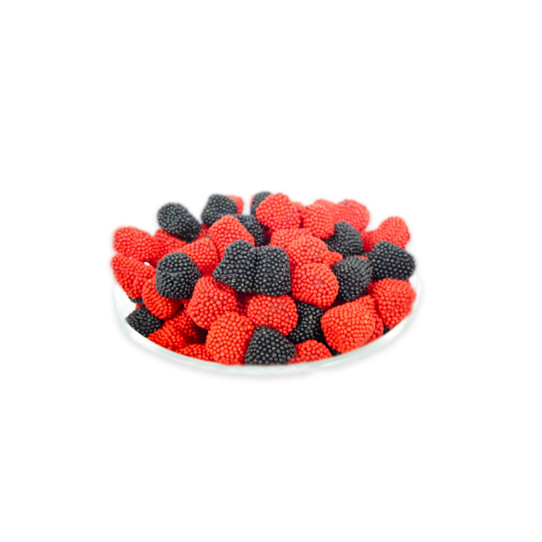 gummy raspberries
