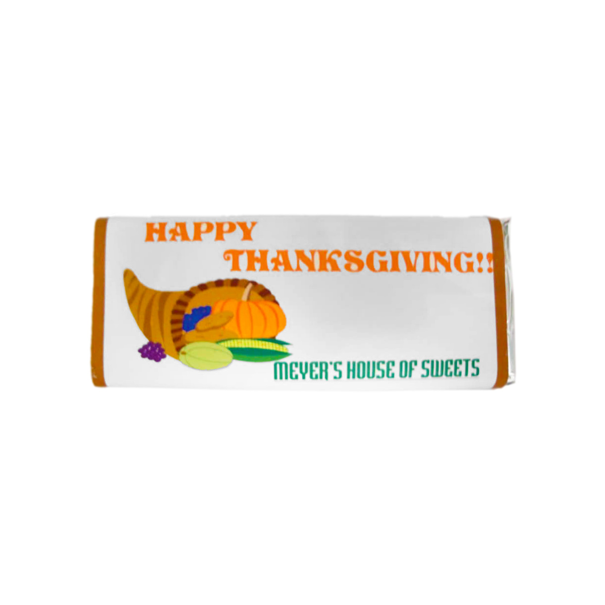 happy thanksgiving candy bar