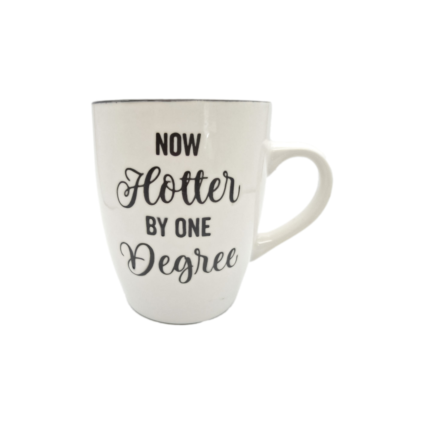 now hotter by one degree mug