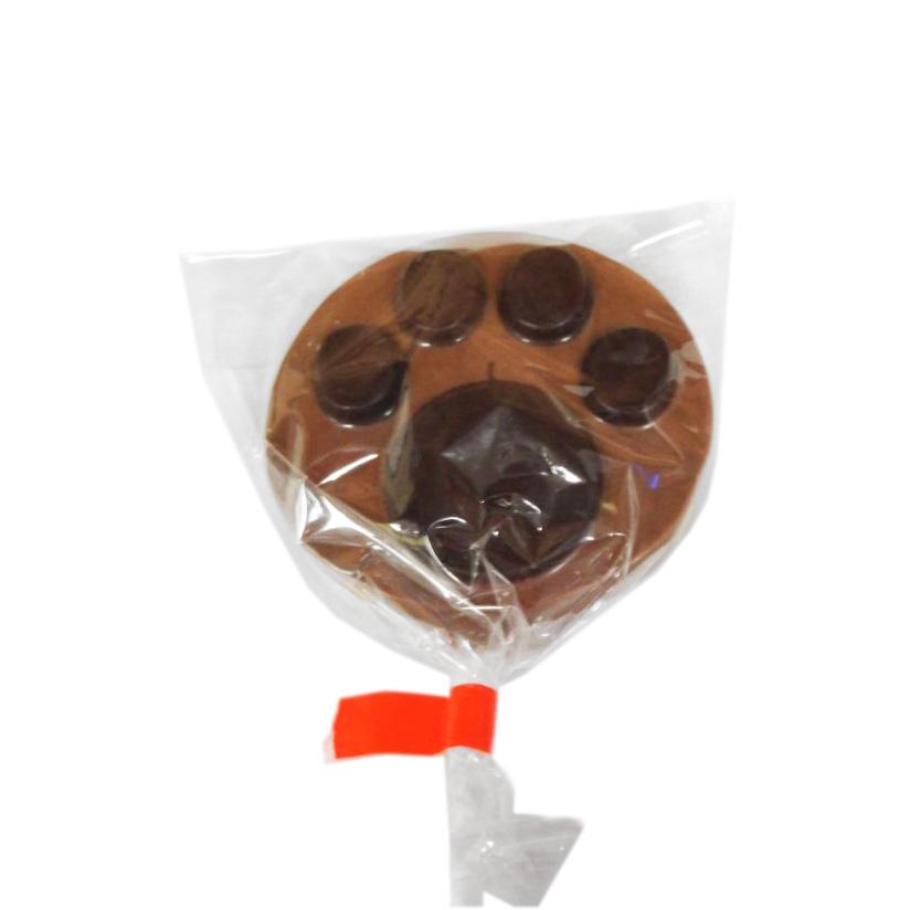 paw print lollipop
