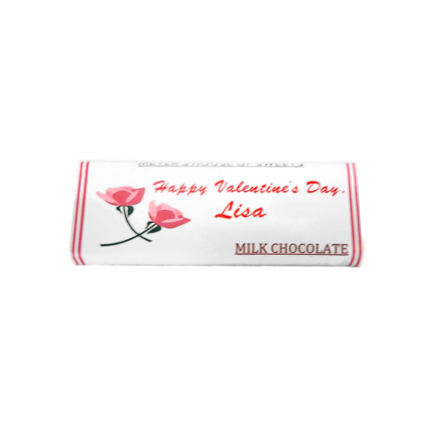 personalized valentine's candy bar