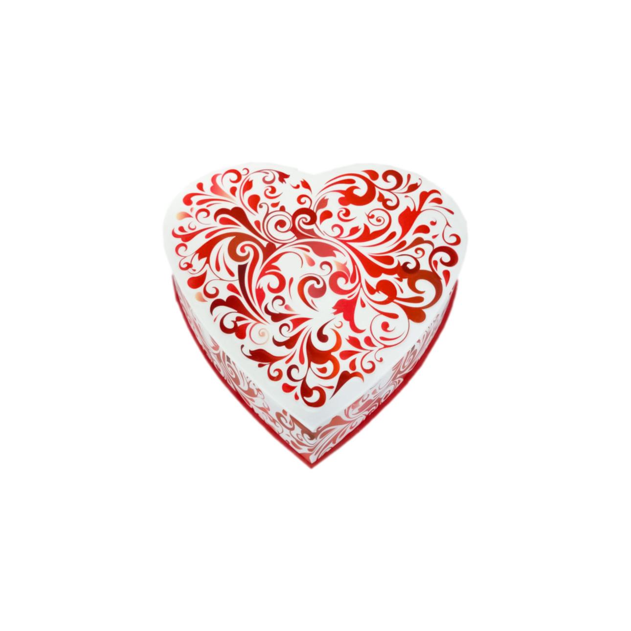 red swirl heart