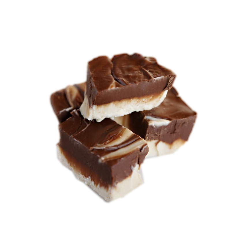 vanilla chocolate swirl fudge