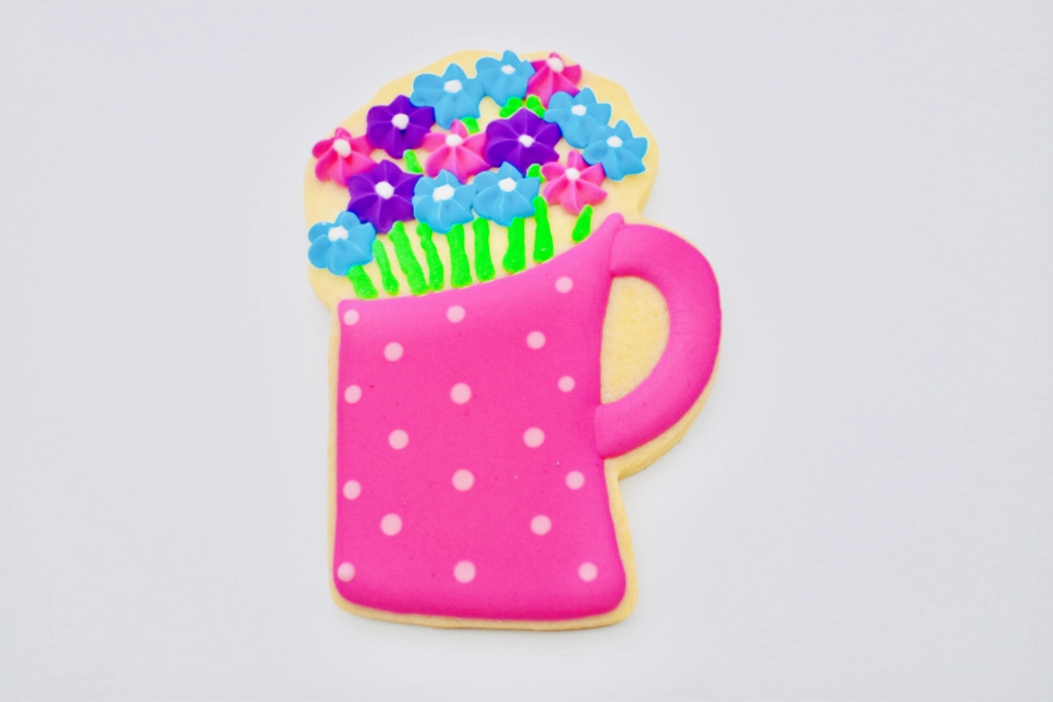 flower cup cookie